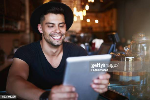 Running a coffee shop right from his tablet