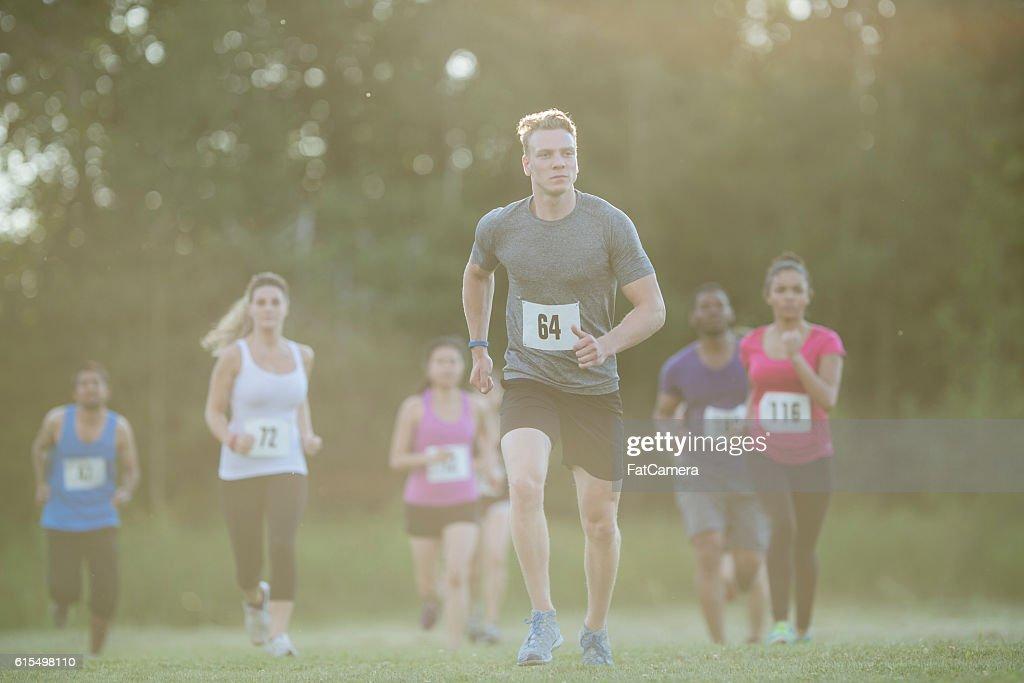 Running a Long Distance Marathon : Stock Photo