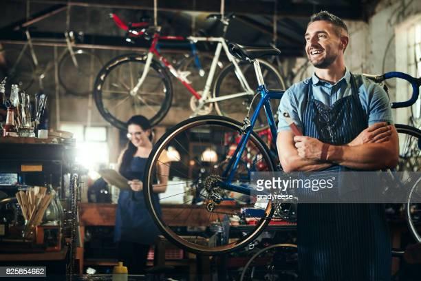 Running a successful bicycle repair shop