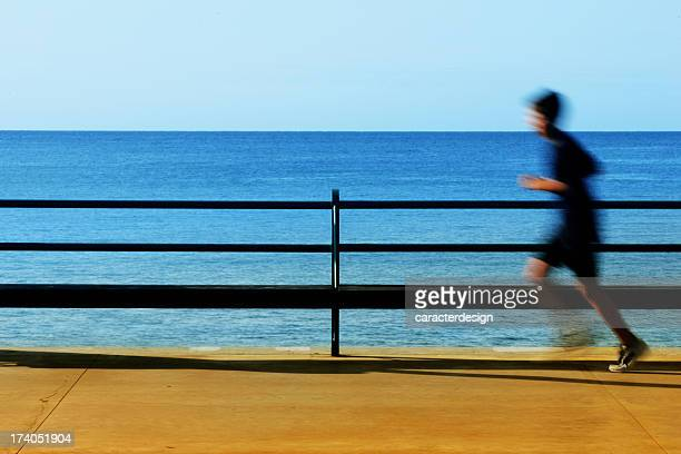 running at the seaside