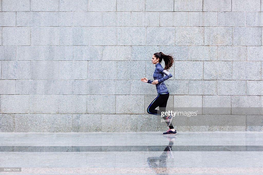 In esecuzione atleta : Foto stock