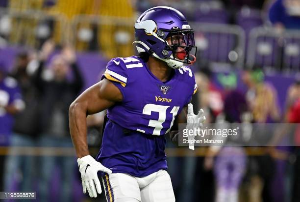 Running back Ameer Abdullah of the Minnesota Vikings warms up before the game against the Green Bay Packers at U.S. Bank Stadium on December 23, 2019...