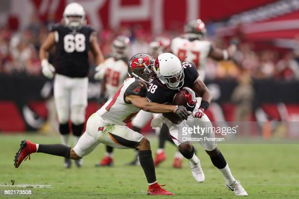 Running back Andre Ellington of the Arizona Cardinals rushes the football during the NFL game against the Tampa Bay Buccaneers at the University of...
