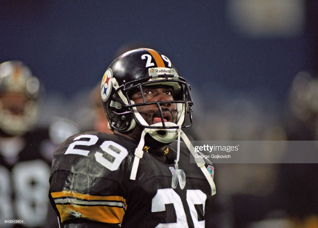 Running back Barry Foster of the Pittsburgh Steelers looks on from ... 0e3801f90