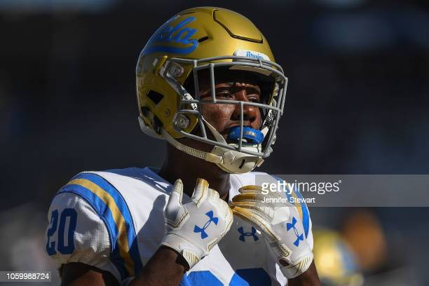 Running back Brandon Stephens of the UCLA Bruins warms up for the game against the Arizona State Sun Devils at Sun Devil Stadium on November 10 2018...