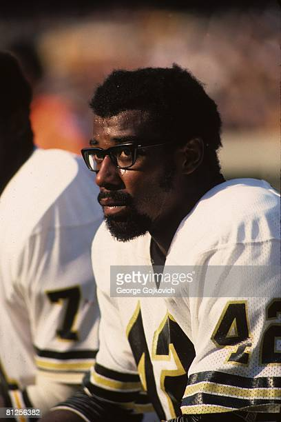 Running back Chuck Muncie of the New Orleans Saints looks on from the sideline during a game against the Pittsburgh Steelers at Three Rivers Stadium...