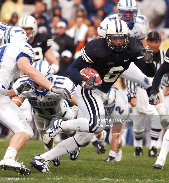 BYU running back Curtis Brown runs for yards against Air Force at LaVelle Edwards Field in Provo Utah Saturday October 29 2005
