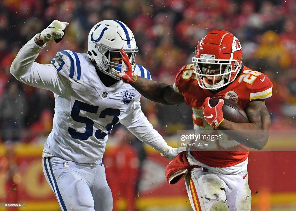 Divisional Round - Indianapolis Colts v Kansas City Chiefs : Nachrichtenfoto