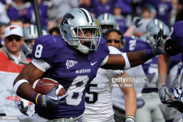 Running back Daniel Thomas of the Kansas State Wildcats rushed for 145 yards on 20 carries and a touchdown against the Colorado Buffaloes on October...