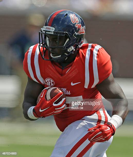 Running back DK Buford of the Mississippi Rebels breaks free for a touchdown during the second half of a NCAA college football game against the...