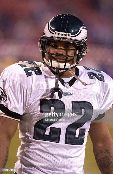 Running Back Duce Staley of the Philadelphia Eagles in pregame warmups againist the New York Giants The Philadelphia Eagles went on to defeat the New...