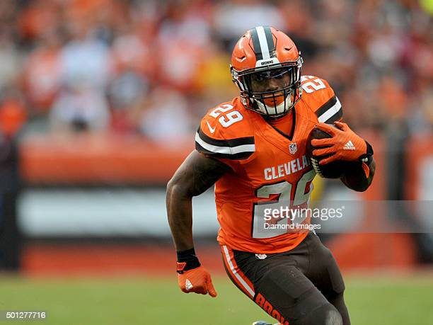 Running back Duke Johnson of the Cleveland Browns carries the ball during a game against the San Francisco 49ers on December 13 2015 at FirstEnergy...