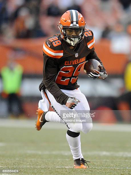 Running back Duke Johnson of the Cleveland Browns carries the ball downfield during a game against the San Diego Chargers on December 24 2016 at...