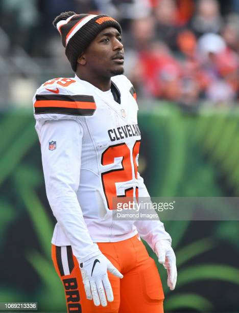 Running back Duke Johnson of the Cleveland Browns on the field in the third quarter of a game against the Cincinnati Bengals on November 25 2018 at...