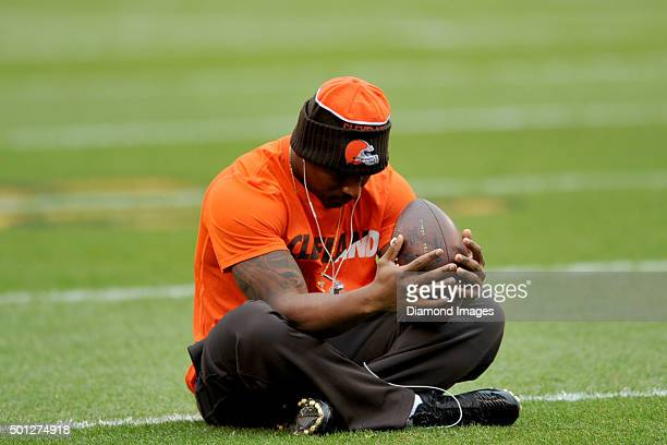 Running back Duke Johnson of the Cleveland Browns sits on the field prior to a game against the San Francisco 49ers on December 13 2015 at...
