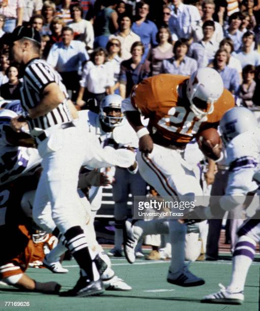 Running back Earl Campbell of the University of Texas Longhorns Campbell was the 1977 Heisman trophy winner and was inducted into the Pro Football...