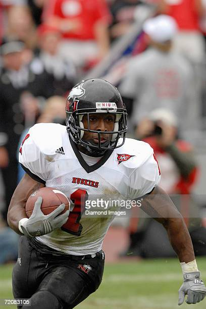 Running back Garrett Wolfe of the Northern Illinois University Huskies in action during a game on September 2 2006 against the Ohio State University...