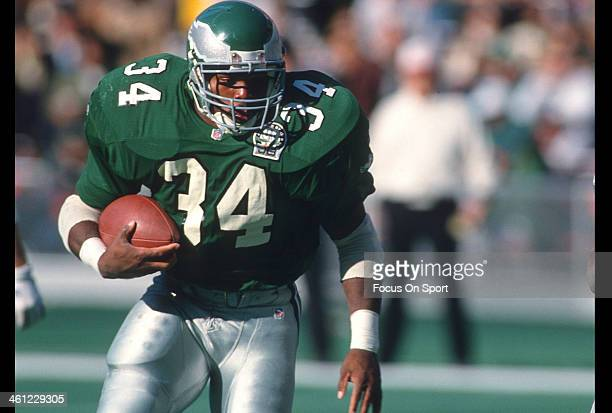 402fa99cc94 Running back Herschel Walker of the Philadelphia Eagles carries the ball  during an NFL football game