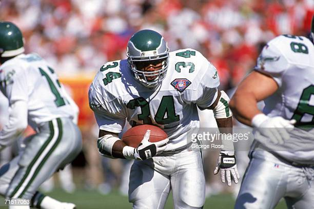 Running back Herschel Walker of the Philadelphia Eagles rushes for yards during a game against the San Francisco 49ers at Candlestick Park on October...