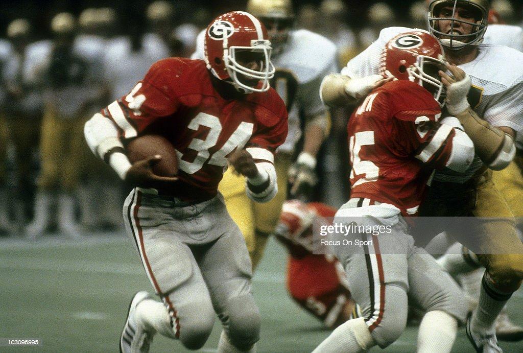 January 1, 1981:Sugar Bowl - Notre Dame Fighting Irish v University of Georgia Bull Dogs : News Photo