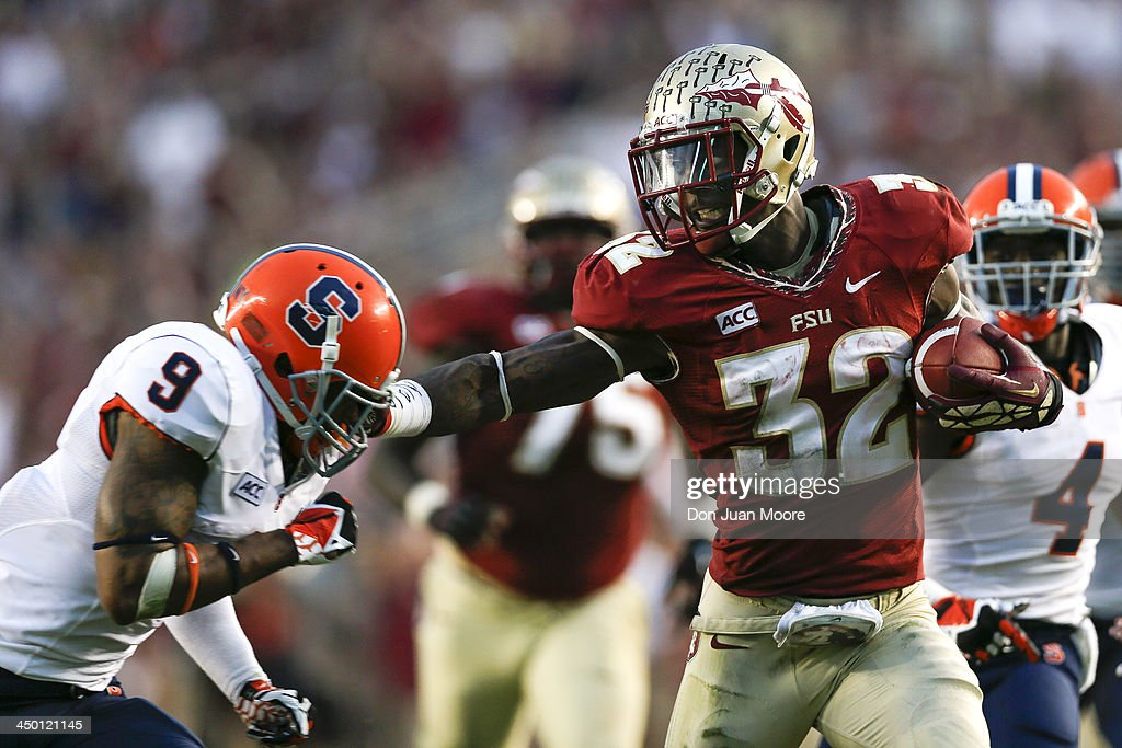 Syracuse v florida state photos and images getty images running back james wilder jr 32 of the florida state seminoles gives a voltagebd Image collections
