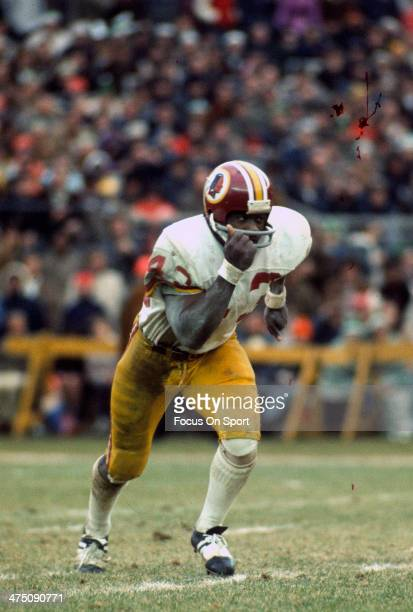 Running back Larry Brown of the Washington Redskins in action during an NFL football game circa 1972 Brown played for the Redskins from 196976