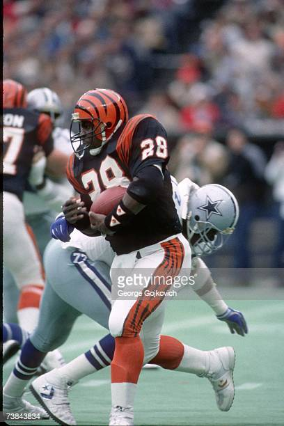 Running back Larry Kinnebrew of the Cincinnati Bengals in action against the Dallas Cowboys at Riverfront Stadium on December 8 1985 in Cincinnati...