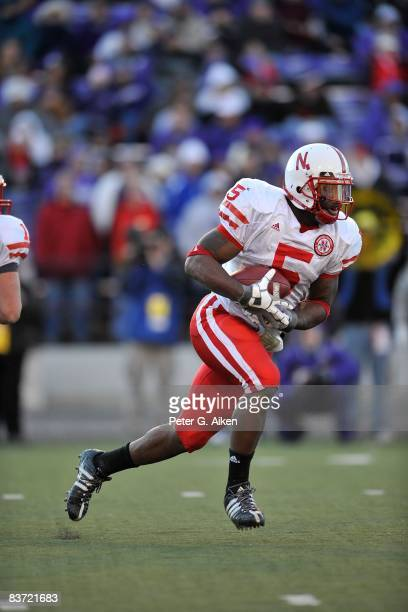 Running back Marlon Lucky of the Nebraska Cornhuskers rushes up field against the Kansas State Wildcats during the third quarter on November 15 2008...