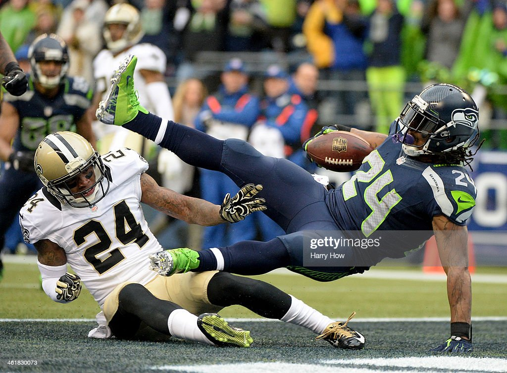 Divisional Playoffs - New Orleans Saints v Seattle Seahawks : News Photo