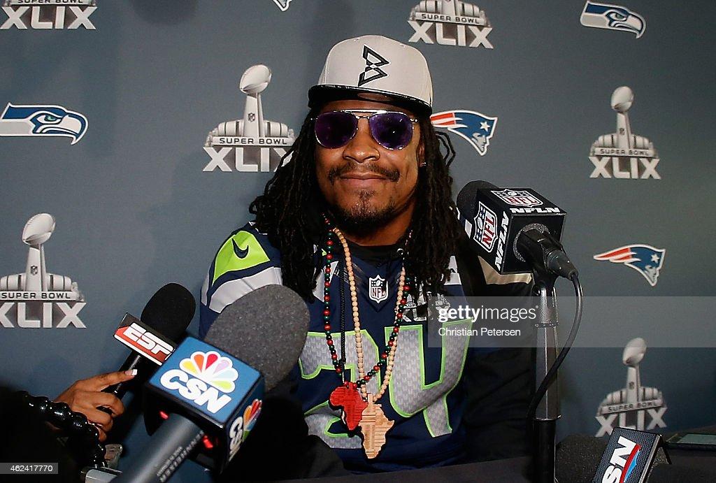 NFC Champion Seattle Seahawks Team Media Availability : News Photo