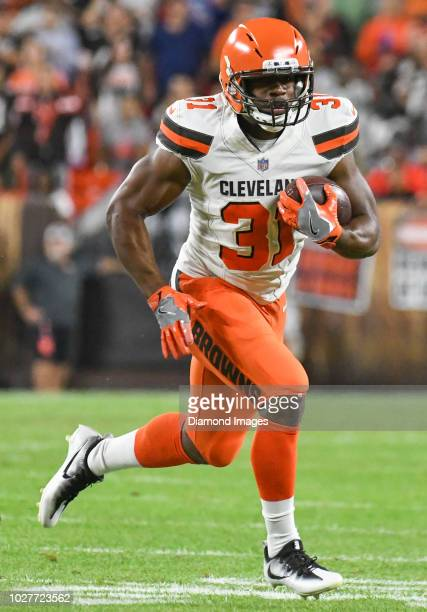 Running back Nick Chubb of the Cleveland Browns carries the ball in the first quarter of a preseason game against the Philadelphia Eagles on August...