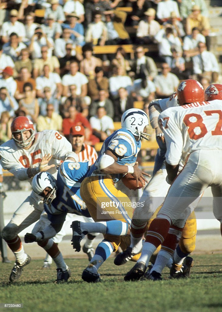 Running Back Paul Lowe Of The San Diego Chargers Runs