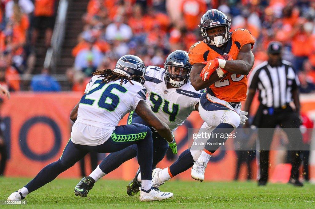 Seattle Seahawks v Denver Broncos : News Photo