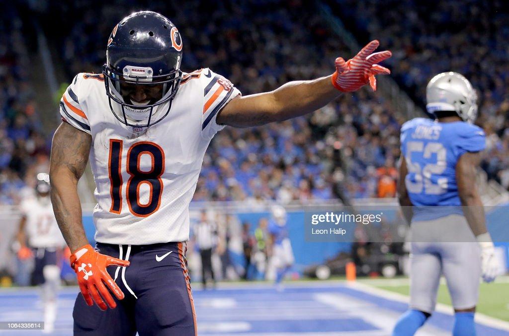 Chicago Bears v Detroit Lions : Foto jornalística