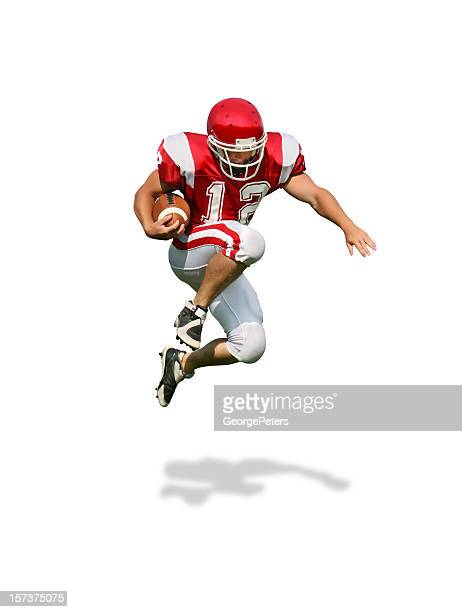 running back with clipping path - football player stock pictures, royalty-free photos & images