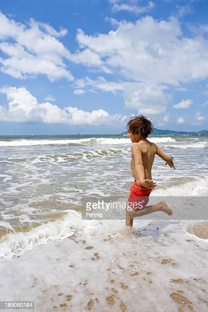 Running beach bum