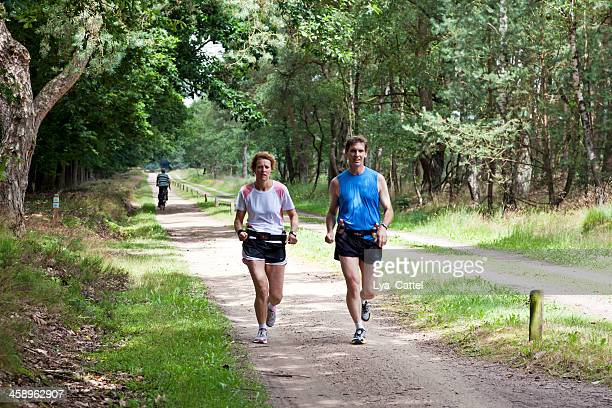 running couple - nijmegen stock pictures, royalty-free photos & images