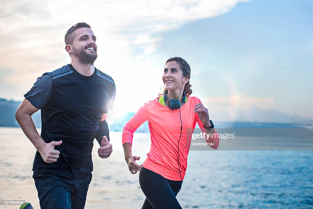 Running early in the morning : Stock Photo