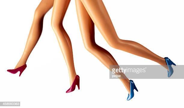 Mujeres piernas para correr muñeca barbie