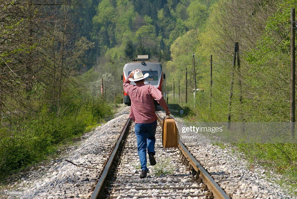 Running for the train : Stock Photo