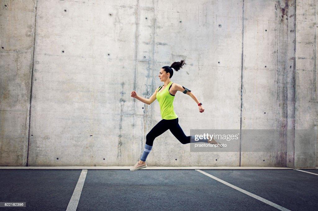 Running girl : Stock Photo