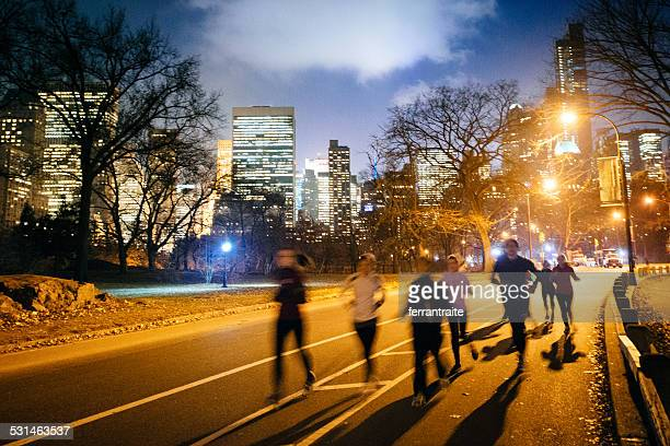 Running Group in Central Park New York