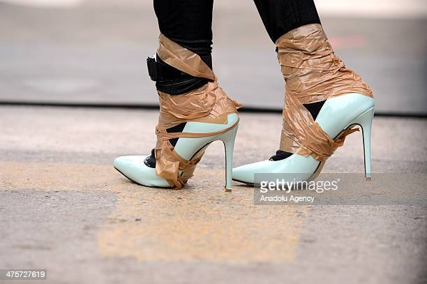 Running heels should be at least 7 cm high and 15 cm large in Antalya Turkey on March 1 2014 Antalyas Runtalya marathon traditionally organized...