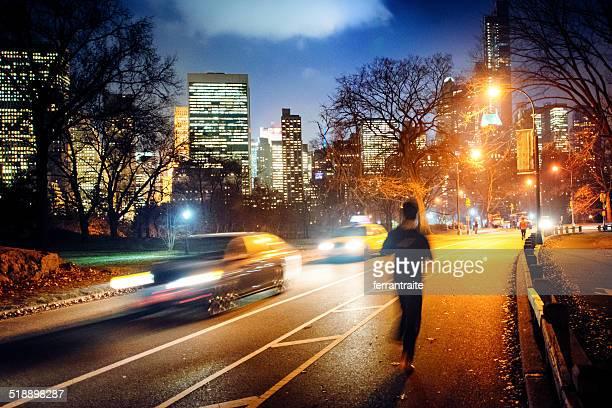 Courir dans Central Park, New York