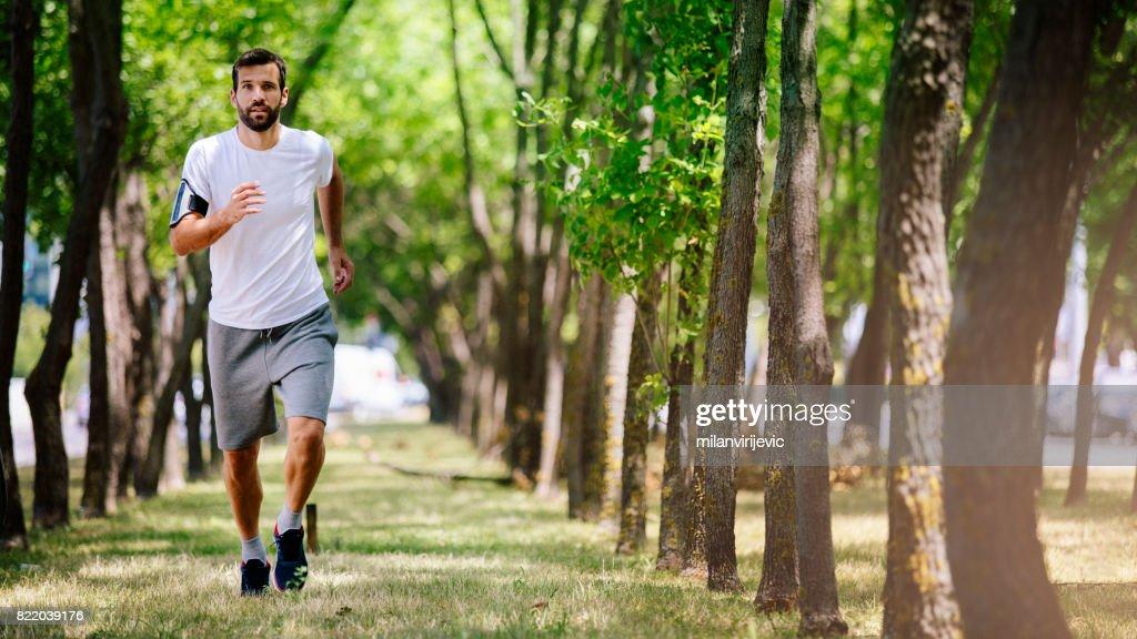 Running in nature : Stock Photo