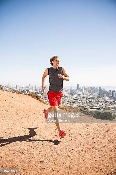 running in san francisco - gray shoe stock pictures, royalty-free photos & images