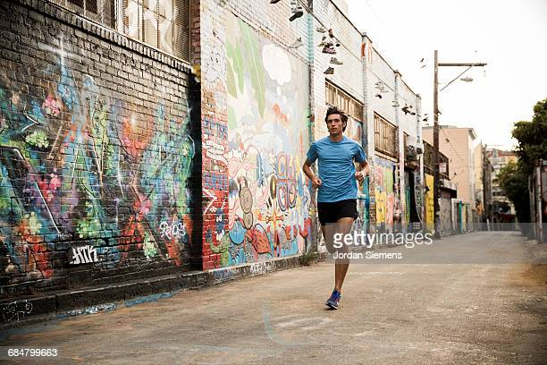 running in san francisco - train graffiti stock photos and pictures