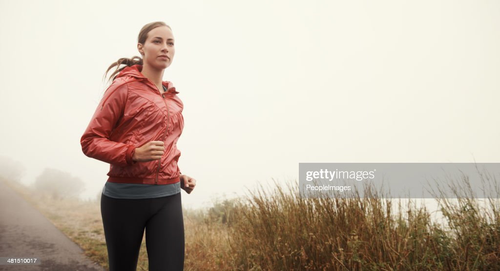 Running in solitude : Stock Photo