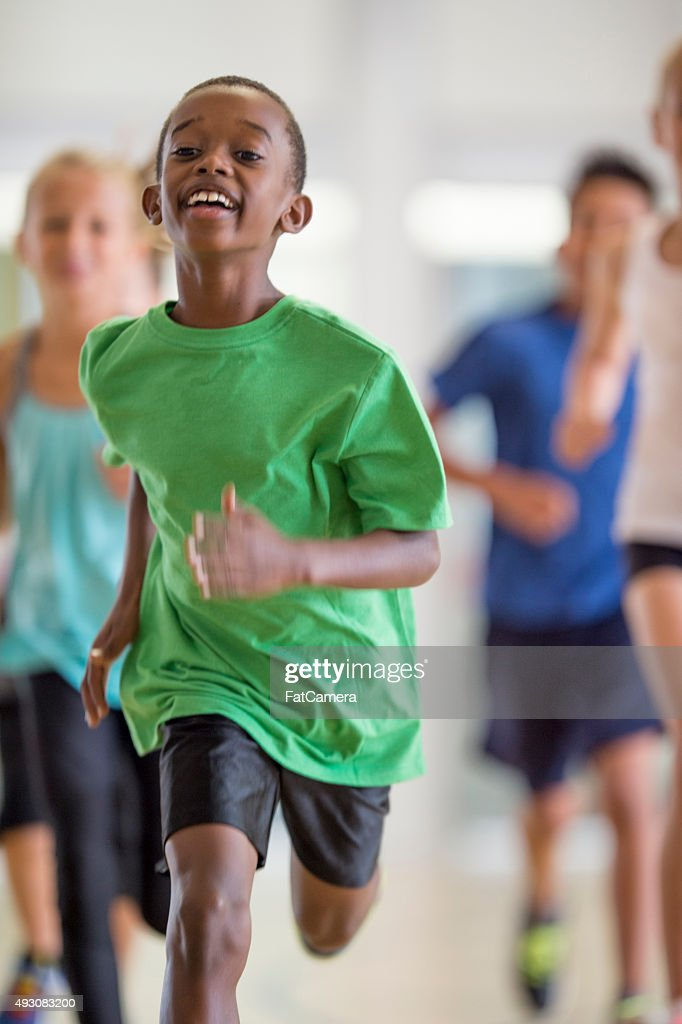 Running in the Gym : Stock Photo