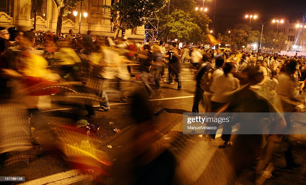 running in the night : Stock Photo